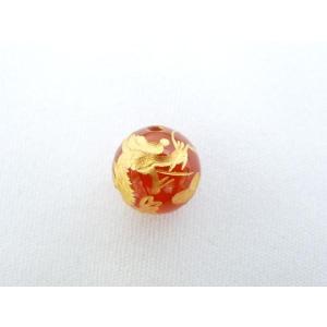 風水 龍 ドラゴン パワーストーン 赤メノウ瑪瑙 カーネリアン 龍彫りルース 10mm|ryu