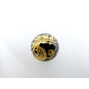 風水 龍 ドラゴン パワーストーン オニキス 龍金彫りルース 12mm|ryu