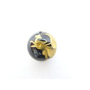 風水 鳳凰 ほうおう パワーストーン オニキス 金色入り鳳凰 彫り物ルース 12mm|ryu