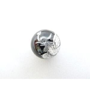 風水 鳳凰 ほうおう パワーストーン オニキス 銀色入り鳳凰 彫り物ルース 12mm|ryu
