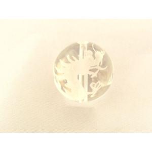 運気上昇 水晶 クリスタル クォーツ 龍彫り 風水 ドラゴン 彫り物ルース 20mm|ryu