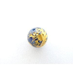【メール便OK】 龍 ドラゴン ラピスラズリ 天然石パーツ パワーストーン 金彫りルース 10mm|ryu