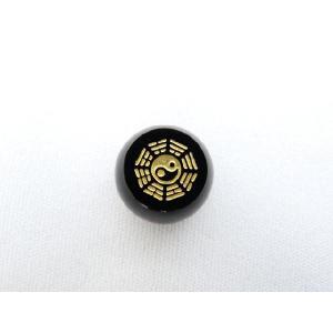 風水 八卦太極 パワーストーン オニキス 八卦太極 彫り物ルース 8×12mm|ryu