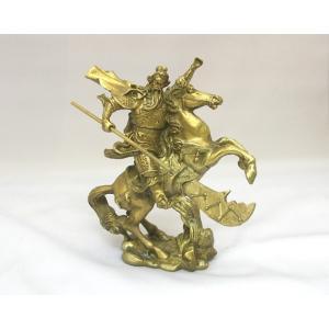 騎馬関羽 カンウ 銅製置物 商売繁盛 ビジネスの神様|ryu