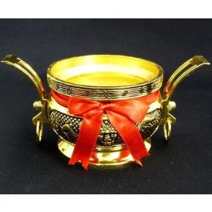 【あらゆる浄化に!】風水開運アイテム【龍彫り香炉】銅製(取手付き) |ryu