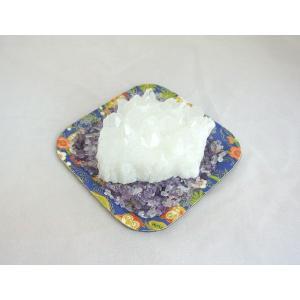 浄化インテリアセット【水晶クラスター+選べる5色のさざれ石・上げたい運気をチョイス♪】お皿付き|ryu