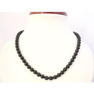 黒珊瑚 ブラックコーラル パワーストーン 天然石ネックレス 首飾り 7mm 内径42cm 厄除け 魔除け|ryu