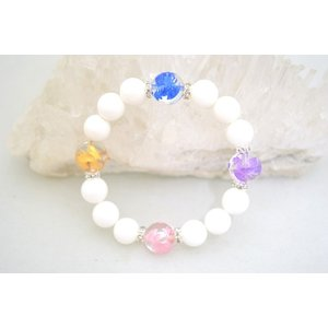 五つの鳳凰 カラー彫り鳳凰 平和 寿福 願望の実現 パワーストーンブレスレット|ryu