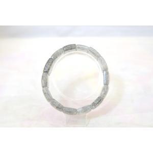 ブラックルチルクォーツ 黒針水晶 薄め 平型 天然石アクセサリー ブレスレット 幅20mm|ryu|02