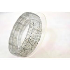 ブラックルチルクォーツ 黒針水晶 薄め 平型 天然石アクセサリー ブレスレット 幅20mm|ryu|03