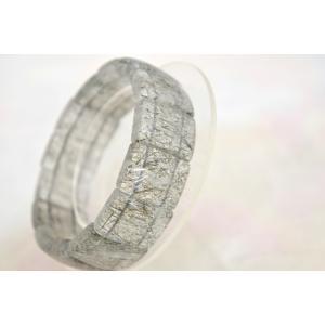 ブラックルチルクォーツ 黒針水晶 薄め 平型 天然石アクセサリー ブレスレット 幅20mm|ryu|04