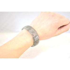 ブラックルチルクォーツ 黒針水晶 薄め 平型 天然石アクセサリー ブレスレット 幅20mm|ryu|05