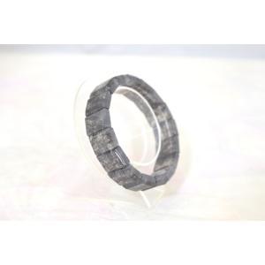 ブラックルチルクォーツ 黒針水晶 濃い目 平型 天然石アクセサリー ブレスレット 幅16mm|ryu