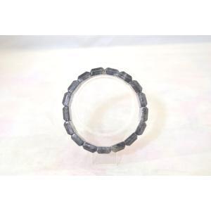 ブラックルチルクォーツ 黒針水晶 濃い目 平型 天然石アクセサリー ブレスレット 幅16mm|ryu|02
