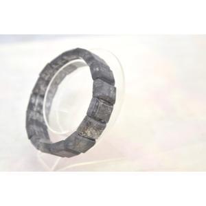 ブラックルチルクォーツ 黒針水晶 濃い目 平型 天然石アクセサリー ブレスレット 幅16mm|ryu|03