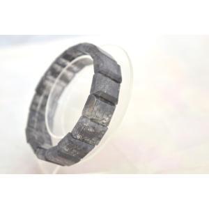 ブラックルチルクォーツ 黒針水晶 濃い目 平型 天然石アクセサリー ブレスレット 幅16mm|ryu|06