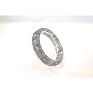 ブラックルチルクォーツ 黒針水晶 小ぶりパーツ 平型 天然石アクセサリー ブレスレット 幅14mm|ryu