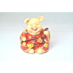 金運 富の象徴 可愛い豚置物 ニ瑚 元宝|ryu