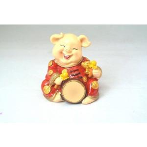 金運 富の象徴 可愛い豚置物 元宝 太鼓|ryu