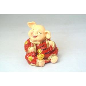 金運 富の象徴 可愛い豚置物 元宝|ryu