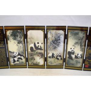 屏風 パンダ 熊猫 折り畳み式 中華国宝|ryu|05