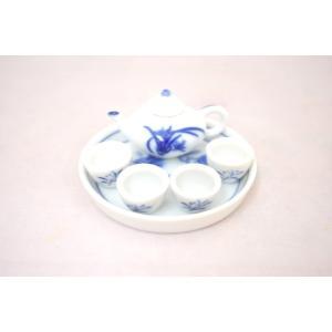 ミニチュア茶器セット 草|ryu