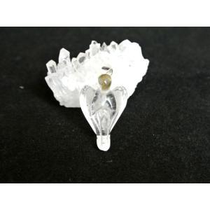 【メール便OK】 天然石パーツ パワーストーン 天使 ペンダントヘッド 水晶|ryu