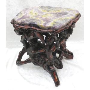 【天才の石】フローライト(蛍石)椅子 ラベンダー色 【パワーストーン置物】 【一点物】|ryu