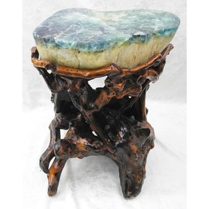 【天才の石】フローライト(蛍石)椅子 緑色 【パワーストーン置物】 【一点物】|ryu