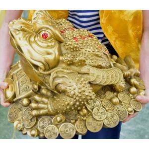 三脚蟾蜍 三本足のカエル 銅製置物 財運 商売繁盛 特大|ryu|11