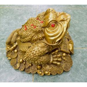 三脚蟾蜍 三本足のカエル 銅製置物 財運 商売繁盛 特大|ryu|06