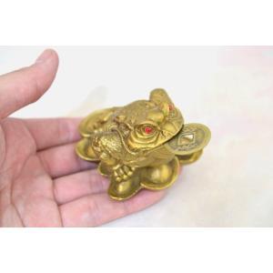 三脚蟾蜍 三本足カエル 銭蛙 銅製置物 財運 商売繁盛 中の小 ryu 05