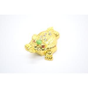 【メール便OK】三脚蟾蜍 さんきゃくせんじょ 三本足の蛙 金属製置物 メッキ加工 金色|ryu