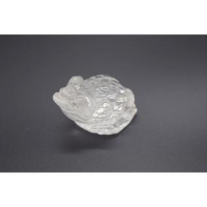 三脚蟾蜍 さんきゃくせんじょ 三本脚の蛙 天然石製置物 水晶 3cm|ryu