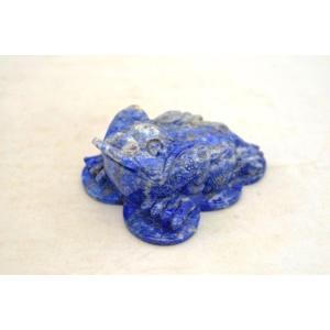 三脚蟾蜍 さんきゃくせんじょ 三本脚の蛙 天然石製置物 ラピスラズリ 中|ryu