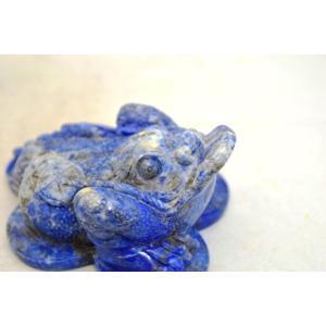 三脚蟾蜍 さんきゃくせんじょ 三本脚の蛙 天然石製置物 ラピスラズリ 中|ryu|07