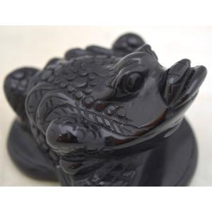 三脚蟾蜍 さんきゃくせんじょ 三本脚の蛙 天然石製置物 オニキス 中 ryu 07