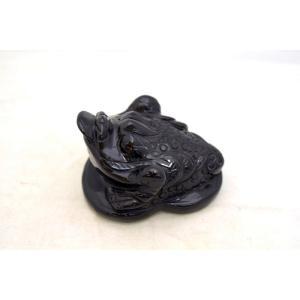 三脚蟾蜍 さんきゃくせんじょ 三本脚の蛙 天然石製置物 オニキス 中|ryu|02