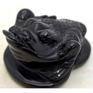三脚蟾蜍 さんきゃくせんじょ 三本脚の蛙 天然石製置物 オニキス 中|ryu|08