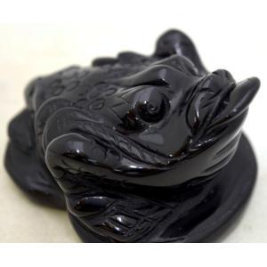 三脚蟾蜍 さんきゃくせんじょ 三本脚の蛙 天然石製置物 オニキス 中|ryu|09