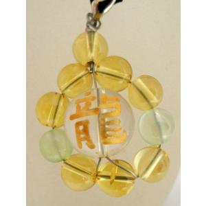 全体運・金運/龍金彫り水晶またはオニキス×シトリン(黄水晶)・プレナイト/ストラップ|ryu