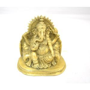ガネーシャ 夢を叶える象 幸福の神様 銅製置物|ryu