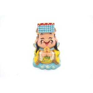高上玉皇大帝 玉帝神仙 アジアの神々 マスコット人形 樹脂製置物 彩色済み 9cm|ryu
