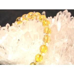 【お金の石】シトリン(黄水晶)パワーストーンブレスレット|ryu