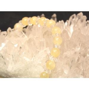 【免疫力アップ!】ハニーストーン(蜂蜜石・はちみついし)パワーストーンブレスレット|ryu