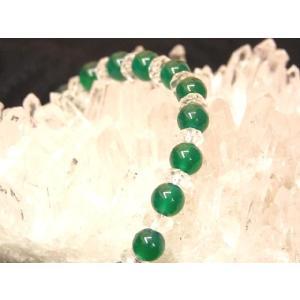 【ヒーリング・癒し】グリーンアゲート(緑瑪瑙めのう)パワーストーンブレスレット|ryu