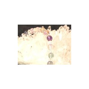 【天才の石】 フローライト(蛍石ほたる石) パワーストーンブレスレット|ryu