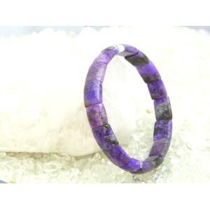 【魅惑の石】スギライト・パワーストーンブレスレット【一点もの!】幅9mm/サイズ15cm|ryu