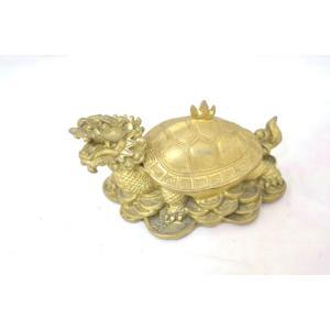 龍亀 ロングイ 小物入れ 銅製置物|ryu