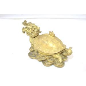 龍亀 ロングイ 小物入れ 銅製置物|ryu|02